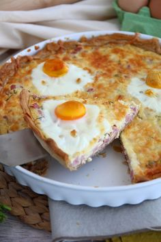 Ham and eggs quiche, Recipe Petitchef Baby Food Recipes, Sweet Recipes, Cooking Recipes, Finger Food Appetizers, Appetizer Recipes, Aperitivos Finger Food, Quiche Lorraine, Portuguese Recipes, How To Cook Eggs