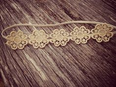 Boho headband, Boho Style vintage lace flower headband for babies, toddlers, teens, adults, one of a kind, baptism, dedication on Etsy, $16.00