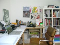 cushy Eames Soft Pad Management Chair).Designer & Illustrator Marcia Mihotich Home Studio Tour Lifework   Apartment Therapy