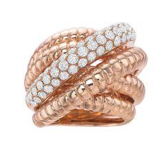 #Reserve 18K #RoseGold & #Diamond Crossover #Ring