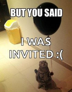 Did you get an invitation in the mail, CAT?