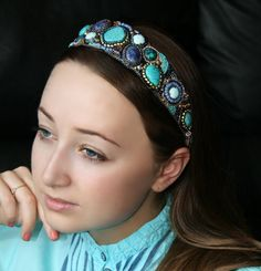 Hey, I found this really awesome Etsy listing at https://www.etsy.com/listing/130756076/bead-embroidered-beaded-headband-with