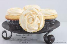 lemon cupcakes with lemon italian buttercream frosting from @createdbydiane