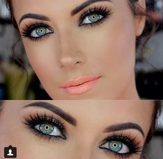 AMY BACON-With your beautiful green eyes and great eyelashes, you need to try your make up like this!!!!  Gorgeous!!!!!!