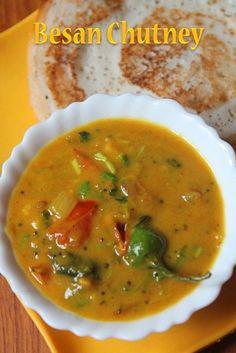YUMMY TUMMY: Besan Chutney Recipe - Kadalai Mavu Chutney Recipe
