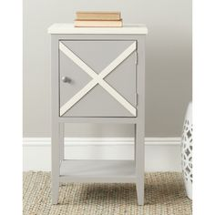 Safavieh Ward Grey/ White Side Table   Overstock.com Shopping - Great Deals on Safavieh Coffee, Sofa & End Tables