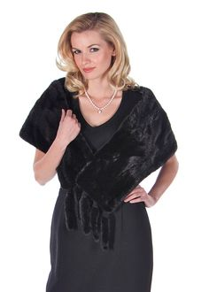Add polish and sophistication to your special occasions with this fabulous mink stole! Devastatingly feminine, this rich, black mink stole will create a Winter Poncho, Mink Stole, Dinner Suit, Poncho Coat, Pearl Grey, Mink Fur, Ball Gowns, Party Dress, Feminine