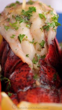 Shrimp Tacos Discover Lobster Tails Recipe The ONLY Lobster Tails Recipe you will need! Broiled lobster tails are juicy flavorful and quick to make! With How-To butterfly lobster tails photo tutorial! Best Seafood Recipes, Salmon Recipes, Great Recipes, Easy Lobster Recipes, Recipes For Scallops, Shellfish Recipes, Shrimp Recipes, Recipes Dinner, Lobster Recipes
