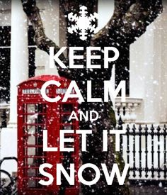 I love snow days, just please Mother Nature, please let them all happen in late Feb or Mar AFTER Brian has safely arrived home!