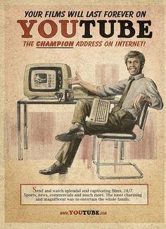 El Socia Media en carteles de los años 50 #infografia #infographic #socialmedia #humor