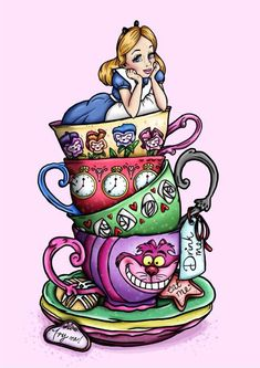 """Alice in the Wonderland"" Of the cupes next tattoo"