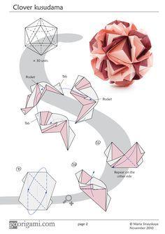 Modular Origami Ball Clover Kusudama By Maria Sinayskaya