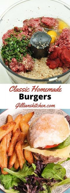 Homemade Burgers - Gillian's Kitchen