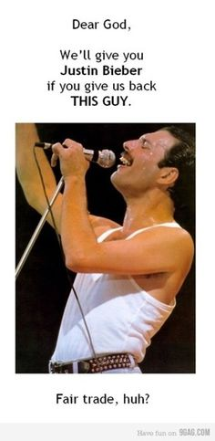 OK, really, I don't wish anyone dead....it would just be so cool to have #Freddie Mercury alive and still making music....he was a genius!