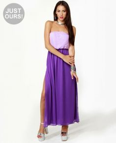 Lavender and Purple Maxi Dress. http://www.vudress.com/lavender-and-purple-maxi-dress-p-1126.html