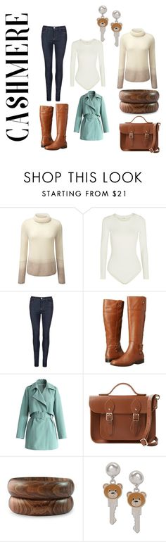 """""""sweater"""" by sveta93 on Polyvore featuring moda, Pure Collection, Wolford, J Brand, Anne Klein, Chicwish, The Cambridge Satchel Company, NOVICA e Moschino"""