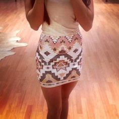 Sequin skirt<3<3