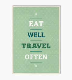 Kunstdruck Eat Travel