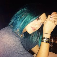 I've had purple hair and red hair. The former was via wig. I do like to add colour. Kylie Jenner showed off her new new blue dip dye hair. Mum Kris Jenner may not like it, but we certainly do!   Celebrity Hairstyles - Yahoo Celebrity UK
