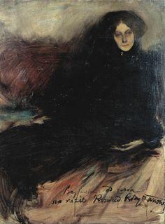 blackpaint20:  Konrad Krzyzanowski,Portrait of a Russian Actress, 1897
