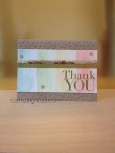 Stampin Up Another Thank You DIY Watercolor card project