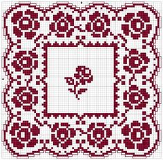 Doily 03 | Chart for pattern - Gráfico  PDF of chart available  80 x 80