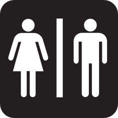 Bathroom Signs Dementia unisex bathroom sign - funny sticker for your toilet - vinyl decal