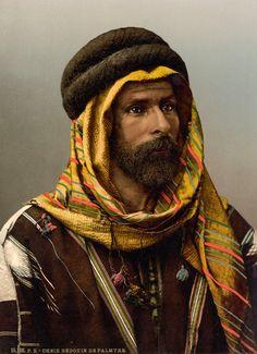 Syria | Bedouin Sheikh of Palmyra, Holy land | ca. 1895. Artist: Félix Bonfils