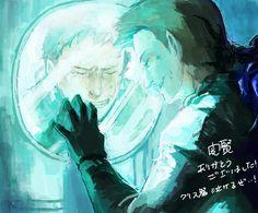 Chris,kiss me good bye by Marcamie on DeviantArt Resident Evil Franchise, Resident Evil Game, Chibi, Fatal Frame, Leon S Kennedy, Predator Alien, Over The Garden Wall, The Evil Within, Just A Game