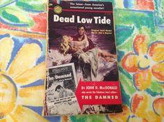 Reduced to clear Dead Low Tide Mass Market, Vintage Books, Book 1, Prints, Art, Craft Art, Old Books, Kunst