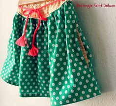 DIY ~~ Easy Skirt with side pockets tutorial
