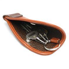 片手で使えるキーケース Sサイズ(Brown)