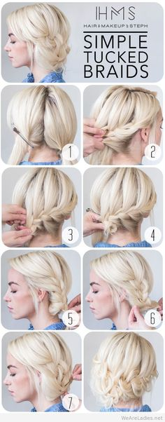 Hair and Make-up by Steph - How To - Tucked Braids