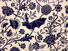 Elysian Fields Wallpaper, designed byDan Funderburgh