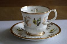 Gold China Upcycled Tea Cup Candle **Vanilla Soy Wax - Royal Castle Fine China - English-Made** by FinerySoaps on Etsy