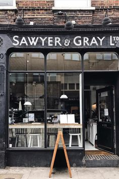 Coffee Shops, London Coffee Shop, Coffee Cafe, Shop Facade, Brick And Mortar, Brew Pub, Small Cafe, Shop Front Design, Coffee Design