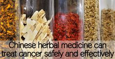 Chinese herbal medicine can treat cancer safely and effectively