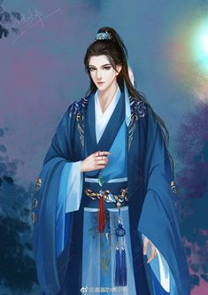 Handsome Anime, Handsome Boys, Bandana Bib Pattern, Fantasy Art Warrior, Chinese Drawings, Japanese Costume, Chinese Cartoon, Chinese Man, Anime Love Couple