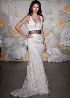 Jim Hjelm Fave I love the lace, the sash, and the necklace! Jim Hjelm is one of my favorite bridal designers!
