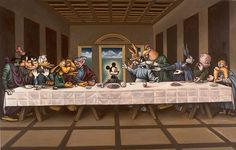 """I love the fact that Disney reinvented the """"Last Supper"""". Not sure if it is tacky or cool but Disney has been a part of Americas culture since the 1950's."""