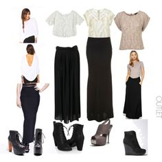 black+maxi+skirt+outfits | Fashionista New York Girl: Steal the Style for Less: Black and White