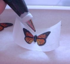 Rice paper butterfly tutorial. Using rice paper creat beautiful and delicate wings to use on cakes and cupcakes