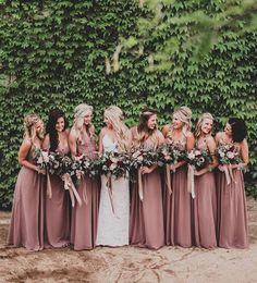 Absolutely love the color of the bridesmaids' dresses. #Wedding #Dress #Photography