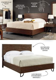 So bold. So retro. Must have it. The gorgeous Boho Stacked Slat Bed from Joanna Gaines' Magnolia Collection. :)
