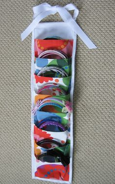 DIY headband Holder! It can be hung from a hook, or a door handle, or  a closet rail....