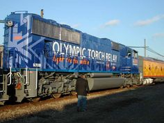 UP OLYMPIC TORCH RELAY LOCOMOTIVE