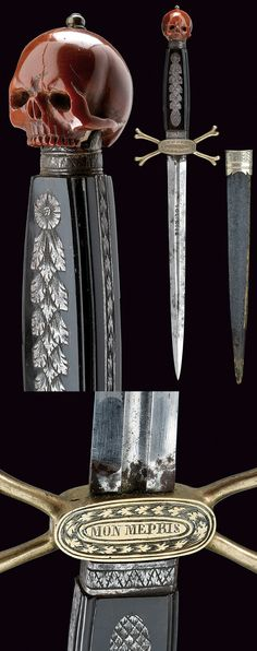 A masonic dagger.    provenance:	 	Italy dating:	 	19th Century.