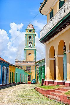 Typical colorful street in Trinidad, #Cuba