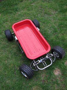 Custom radio flyer wagon pics and ideas? Custom Radio Flyer Wagon, Radio Flyer Wagons, Soap Box Cars, Go Kart Parts, Kids Wagon, Diy Go Kart, Little Red Wagon, Drift Trike, Kids Ride On