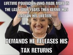 Yet, still won't release the transcripts for those great speeches she was paid so much for even though no one else in the race has ever given paid speeches to wall street amd big bankers. #FeeltheBern